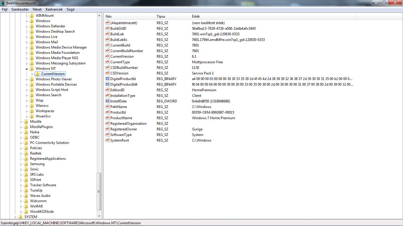hkey local machine software